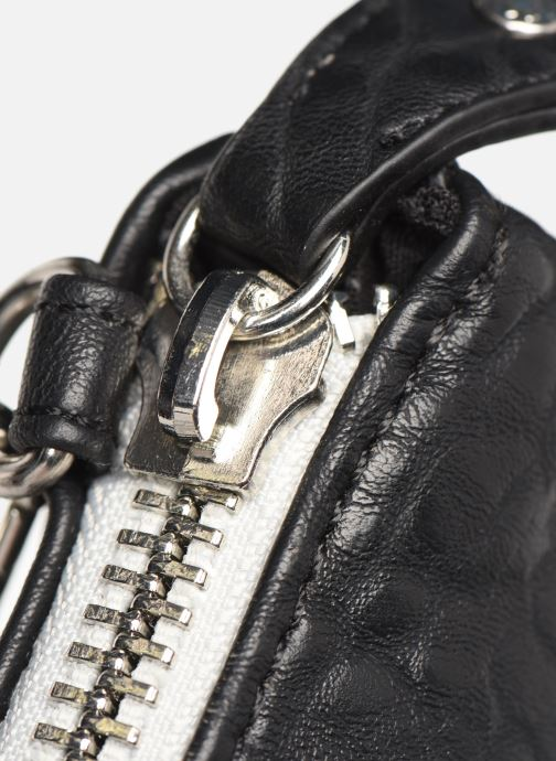 Clutch bags Pieces DAGNA CROSS OVER BAG CONTRAST ZIP Black view from the left