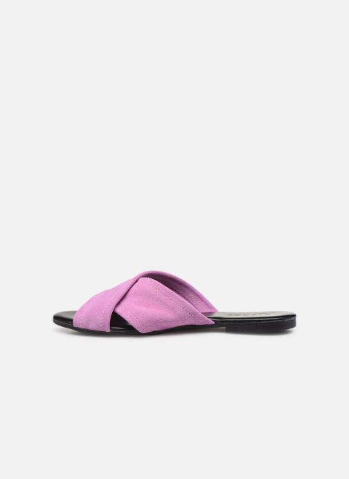 Mules & clogs Pieces MARNIE SUEDE SANDAL Purple front view