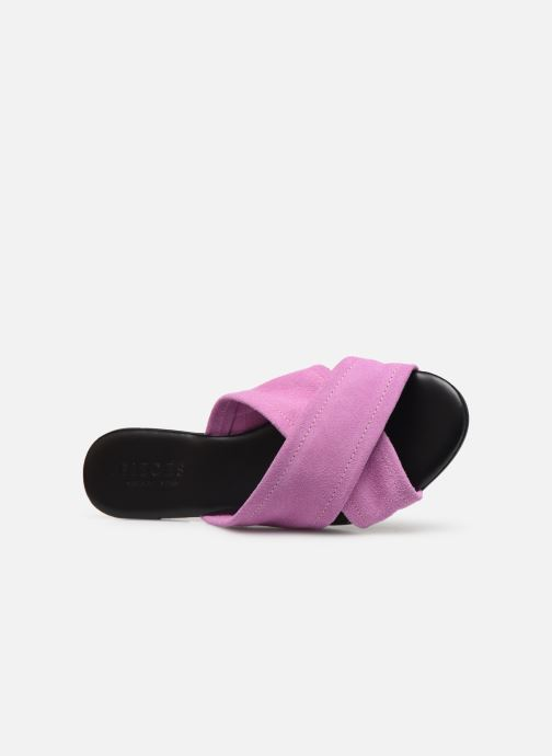 Mules & clogs Pieces MARNIE SUEDE SANDAL Purple view from the left
