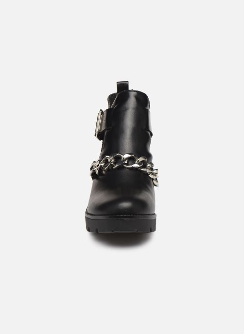 Boots en enkellaarsjes Pieces DELARA BOOT Zwart model