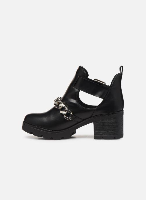 Boots en enkellaarsjes Pieces DELARA BOOT Zwart voorkant