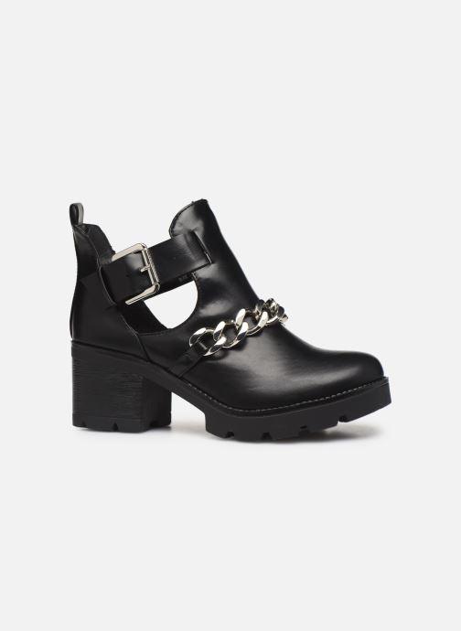 Boots en enkellaarsjes Pieces DELARA BOOT Zwart achterkant