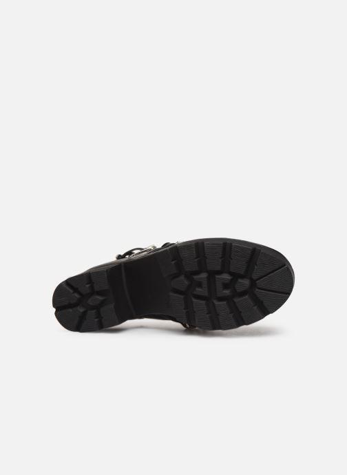Boots en enkellaarsjes Pieces DELARA BOOT Zwart boven