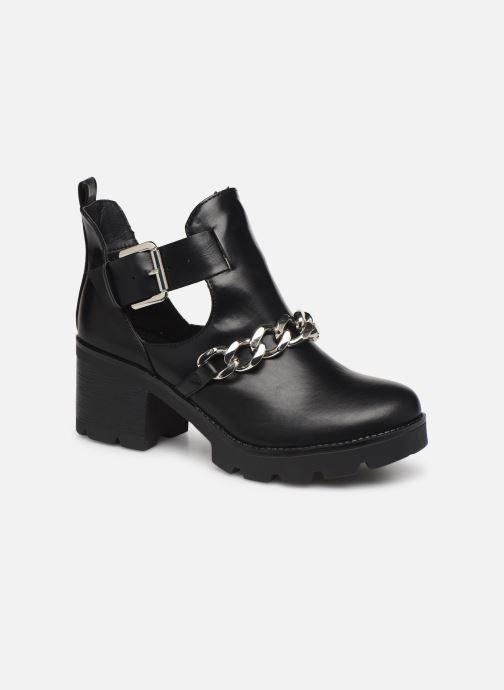 Boots en enkellaarsjes Pieces DELARA BOOT Zwart detail