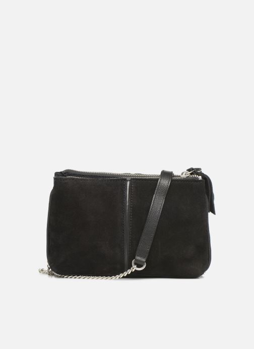 Handtassen Pieces KAHLAN SUEDE CROSS BODY Zwart voorkant