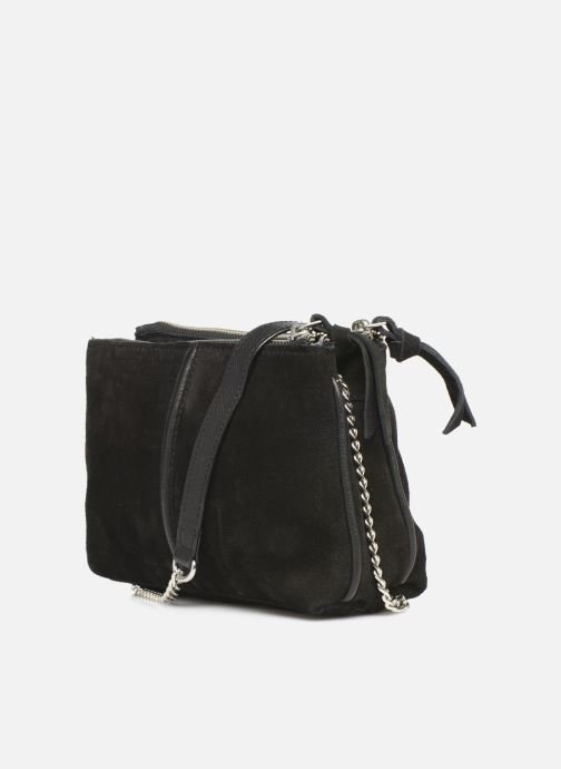 Handtassen Pieces KAHLAN SUEDE CROSS BODY Zwart rechts