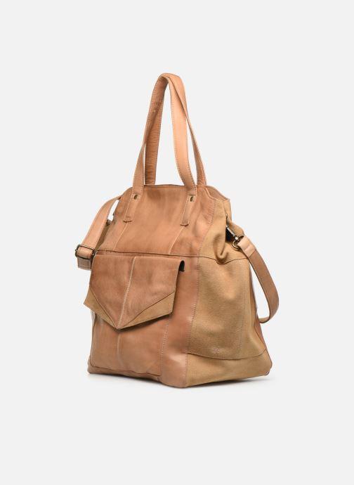 Handbags Pieces BETH LEATHER SHOPPER Blue model view
