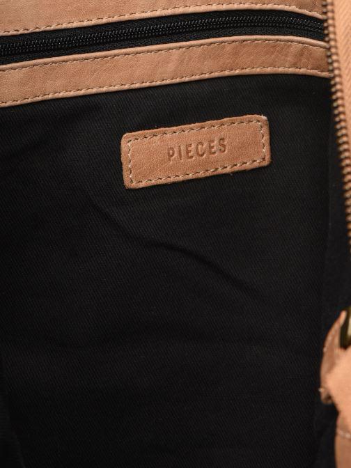 Handtaschen Pieces BETH LEATHER SHOPPER blau ansicht von hinten