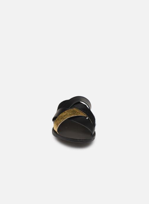 Clogs & Pantoletten Pieces CARI LEATHER SANDAL schwarz schuhe getragen