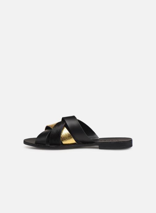 Sandales et nu-pieds Pieces CARI LEATHER SANDAL Noir vue face