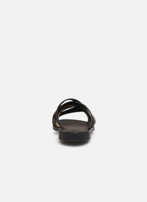 Sandales et nu-pieds Pieces CARI LEATHER SANDAL Noir vue droite