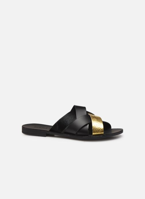 Zuecos Pieces CARI LEATHER SANDAL Negro vistra trasera