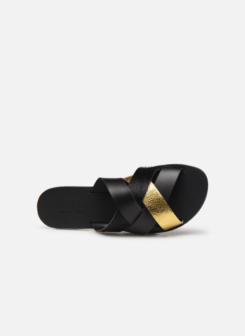 Sandales et nu-pieds Pieces CARI LEATHER SANDAL Noir vue gauche