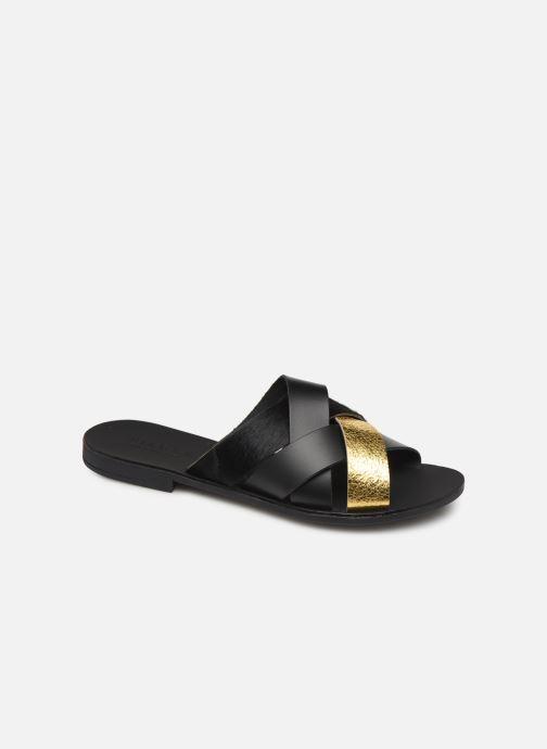 Clogs & Pantoletten Pieces CARI LEATHER SANDAL schwarz detaillierte ansicht/modell