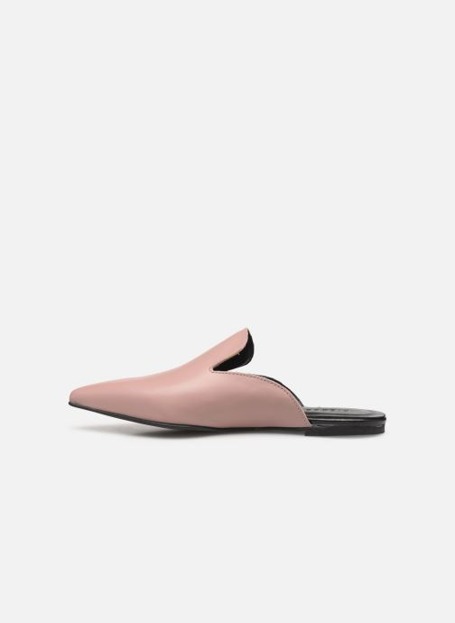Mules & clogs Pieces CINTIA LEATHER MULE Pink front view