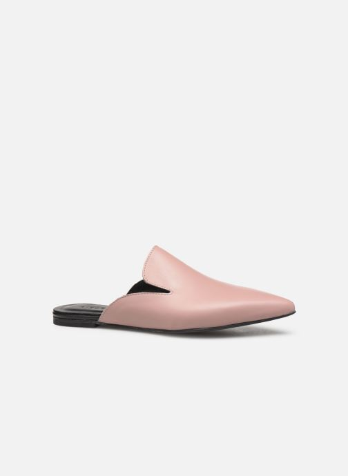 Mules & clogs Pieces CINTIA LEATHER MULE Pink back view