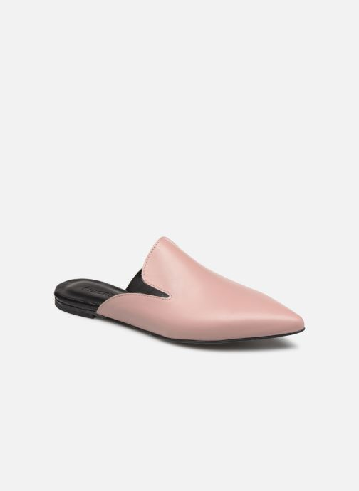 Mules & clogs Pieces CINTIA LEATHER MULE Pink detailed view/ Pair view