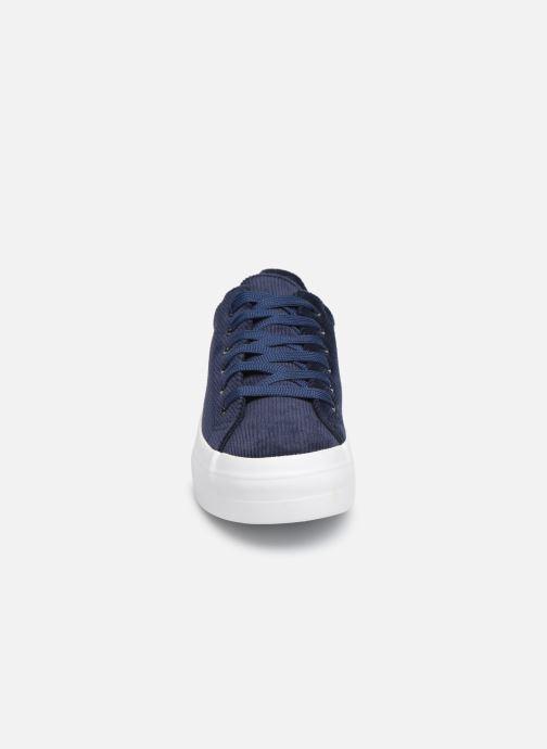 Baskets Pieces CARMA CORDEROY SNEAKER Bleu vue portées chaussures