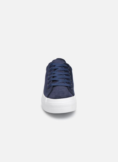 Trainers Pieces CARMA CORDEROY SNEAKER Blue model view