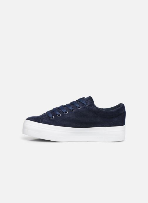 Trainers Pieces CARMA CORDEROY SNEAKER Blue front view