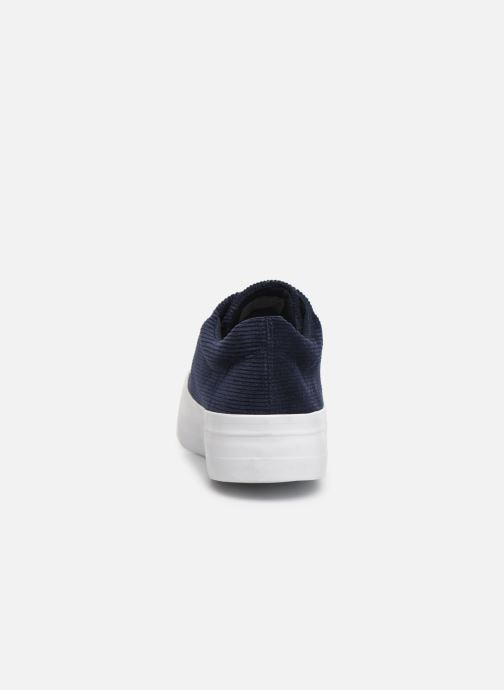 Trainers Pieces CARMA CORDEROY SNEAKER Blue view from the right