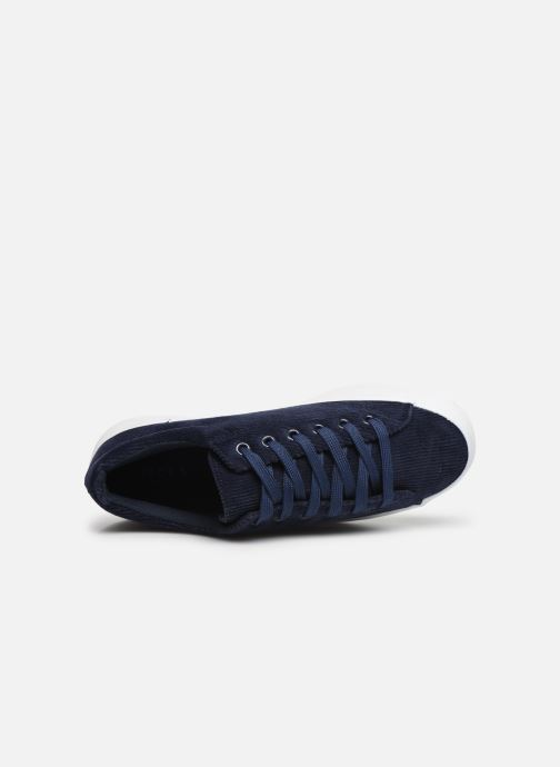 Trainers Pieces CARMA CORDEROY SNEAKER Blue view from the left