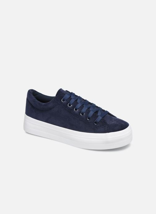 Trainers Pieces CARMA CORDEROY SNEAKER Blue detailed view/ Pair view