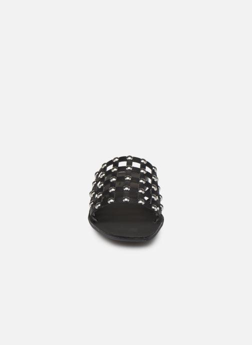 Clogs & Pantoletten Pieces CANDRA LEATHER SANDAL schwarz schuhe getragen