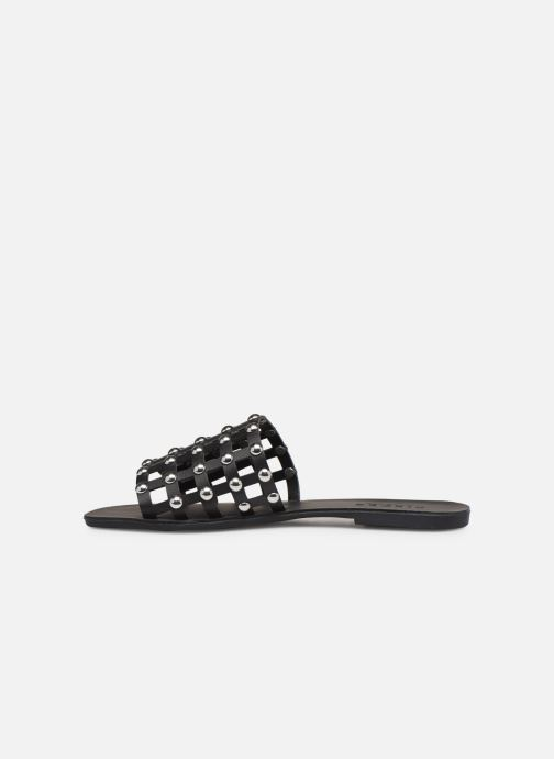 Wedges Pieces CANDRA LEATHER SANDAL Zwart voorkant