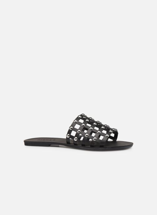 Zuecos Pieces CANDRA LEATHER SANDAL Negro vistra trasera