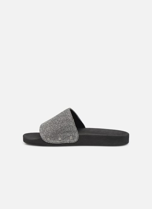Mules & clogs Pieces CHICA SLIPPER Silver front view