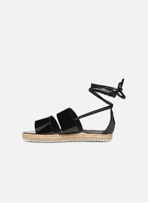 Espadrilles Pieces ANNI SANDAL Black front view