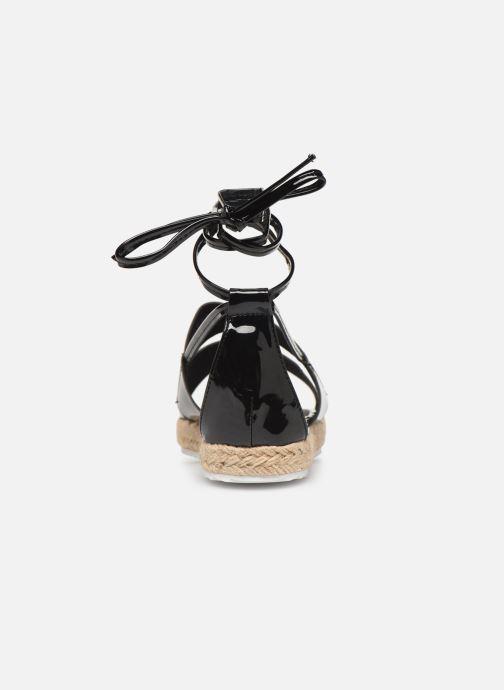 Espadrilles Pieces ANNI SANDAL Noir vue droite