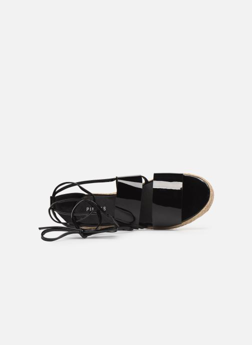 Espadrilles Pieces ANNI SANDAL Black view from the left