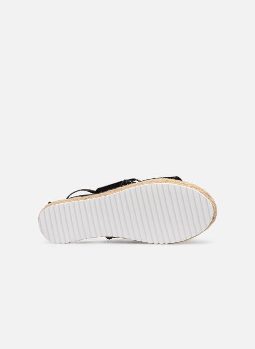 Espadrilles Pieces ANNI SANDAL Black view from above