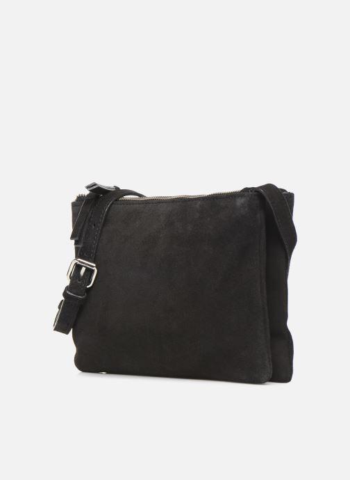 Handbags Pieces EVELINE SUEDE CROSS BODY Black model view