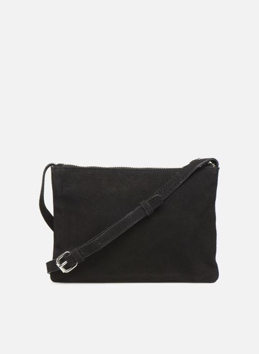 Handbags Pieces EVELINE SUEDE CROSS BODY Black front view