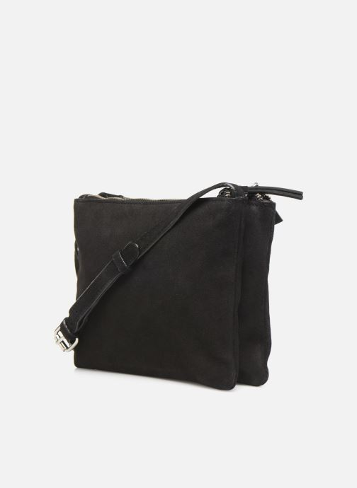 Handbags Pieces EVELINE SUEDE CROSS BODY Black view from the right