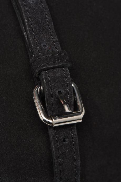 Handtassen Pieces EVELINE SUEDE CROSS BODY Zwart links