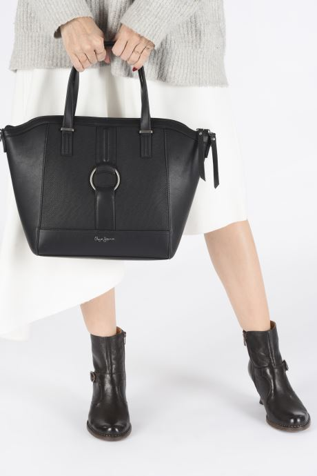 Handbags Pepe jeans BAG DAPHNE Black view from underneath / model view
