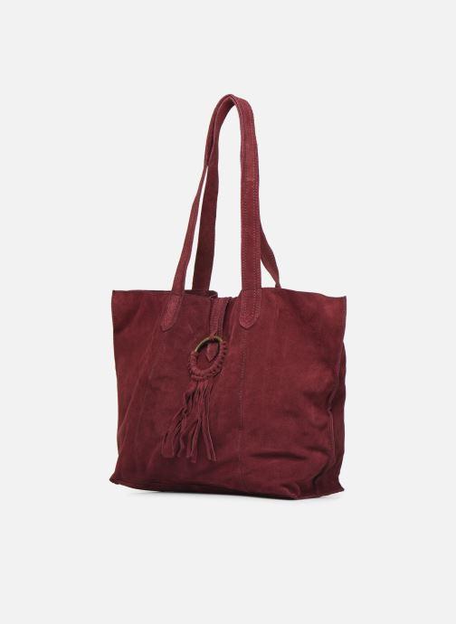 Handbags Pepe jeans BERTA BAG Burgundy model view