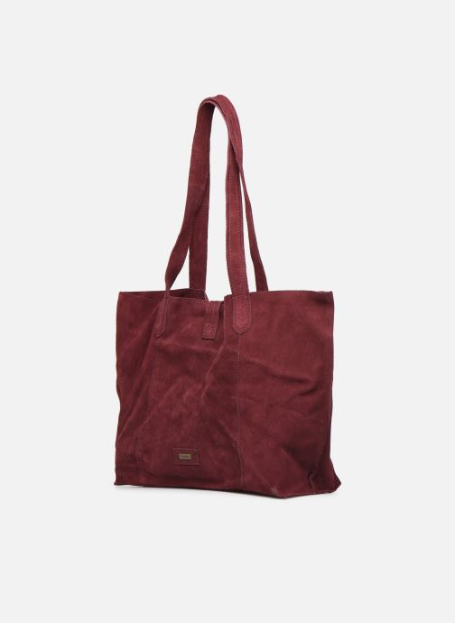 Handbags Pepe jeans BERTA BAG Burgundy view from the right