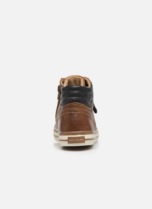 Sneaker Dockers Auri braun ansicht von rechts