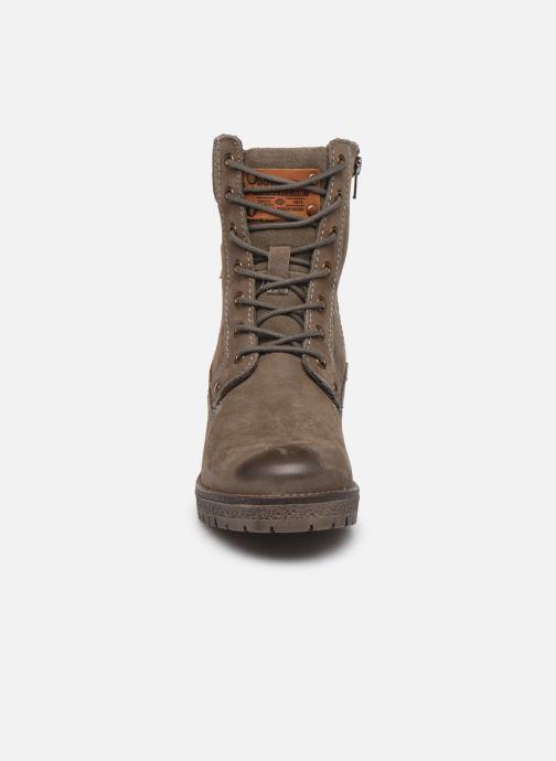 Stiefeletten & Boots Dockers Poli grau schuhe getragen