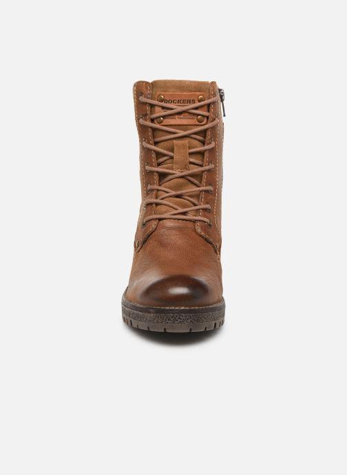 Bottines et boots Dockers Poli Marron vue portées chaussures