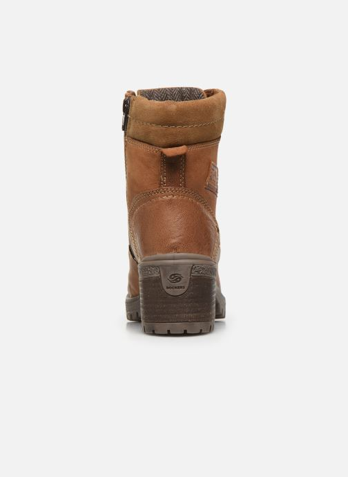 Ankle boots Dockers Poli Brown view from the right