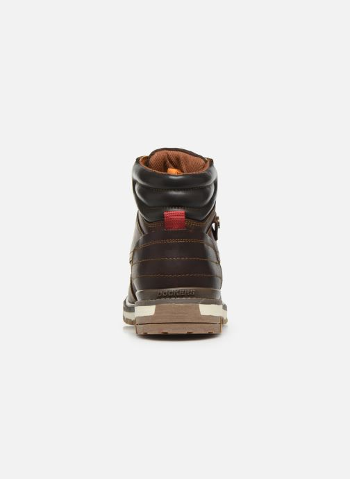 Ankle boots Dockers Alb Brown view from the right