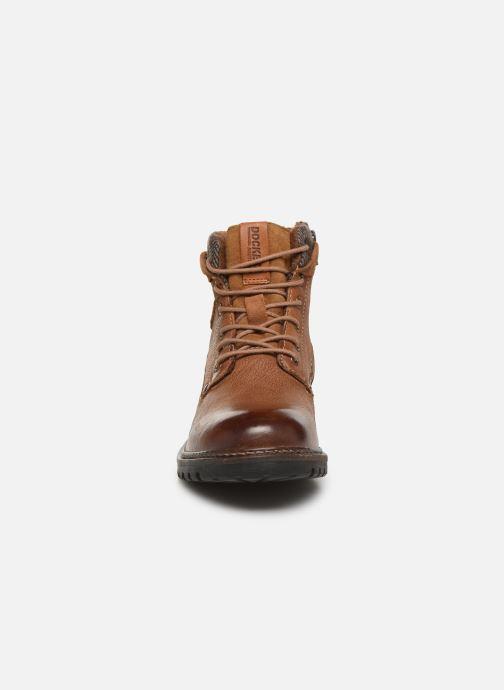 Bottines et boots Dockers Mola Marron vue portées chaussures
