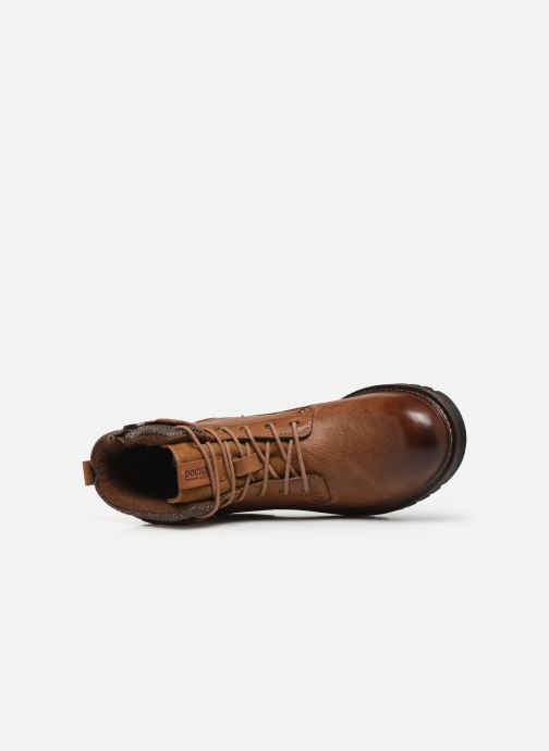 Ankle boots Dockers Mola Brown view from the left