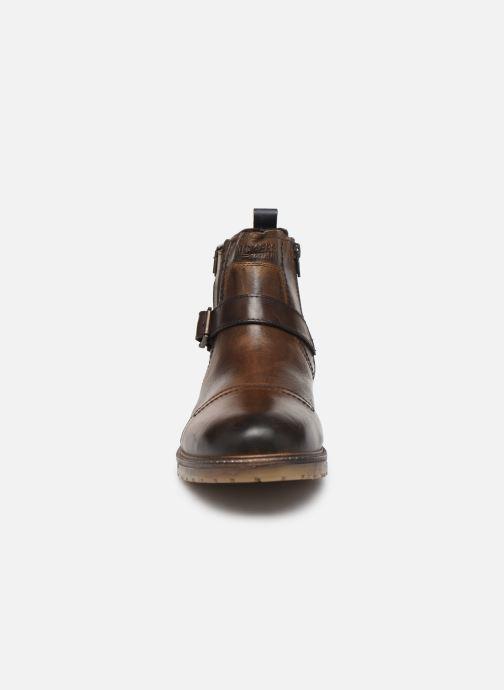 Bottines et boots Dockers Jlo Marron vue portées chaussures
